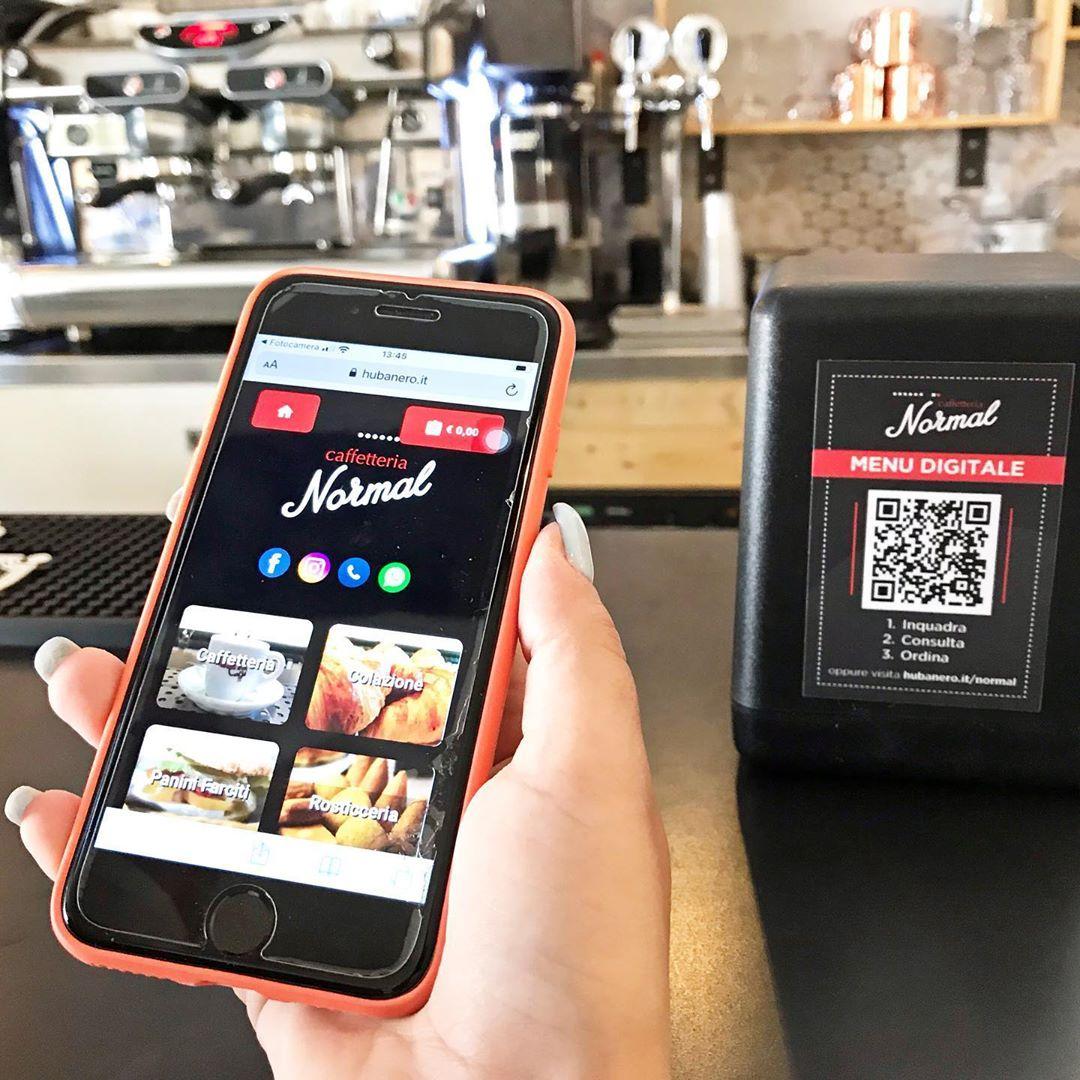 Menu digitale interattivo hubanero settore ristorazione software foto cliente normal taurisano qr code